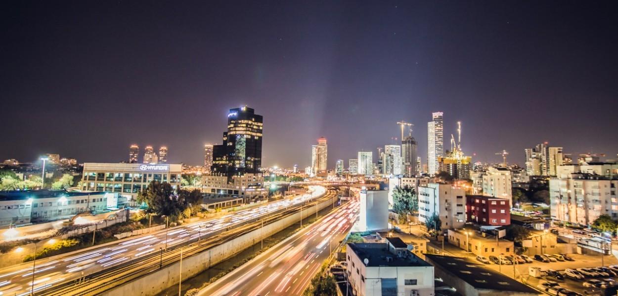 Tel Aviv lights por Basti Hansen