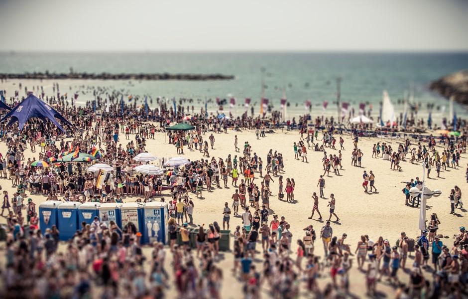 Crowd, Tel Aviv por Basti Hansen