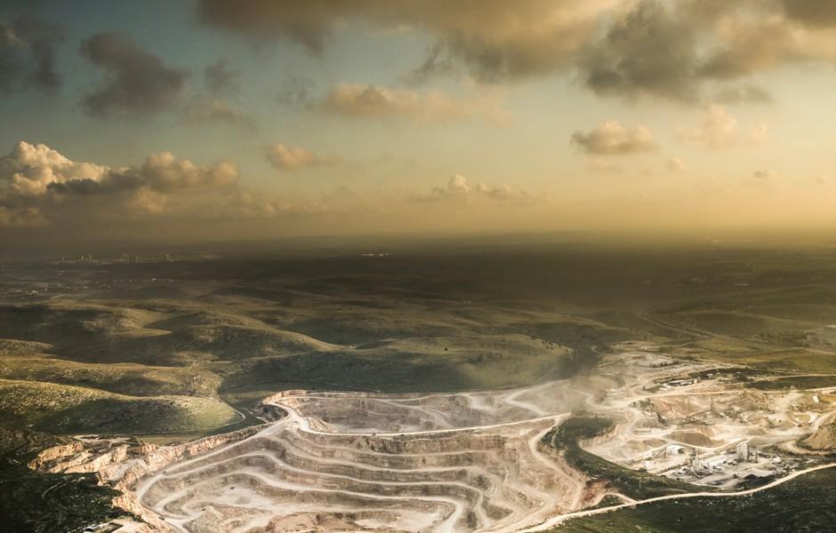 Vista aerea del Neguev por Basti Hansen