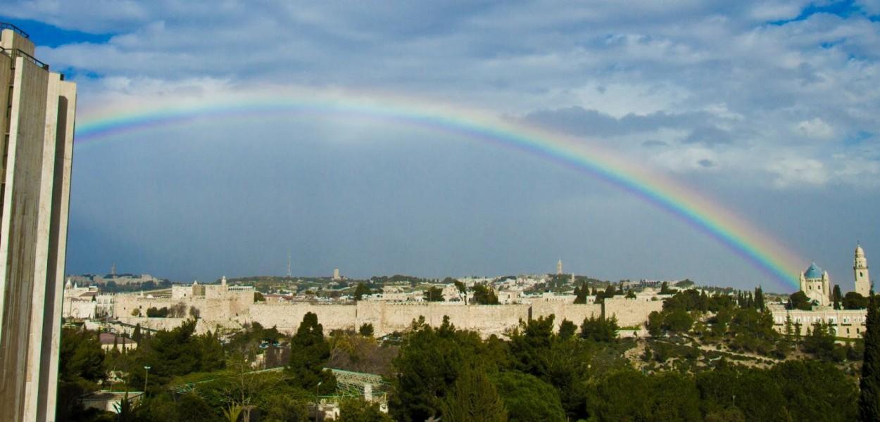 Arcoiris sobre Jerusalen por Jonatan Goff