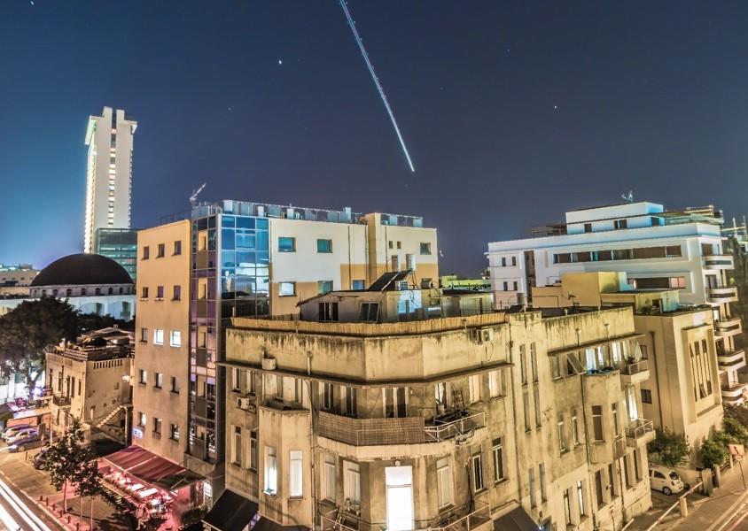 Estrella fugaz, Tel Aviv por Basti Hansen